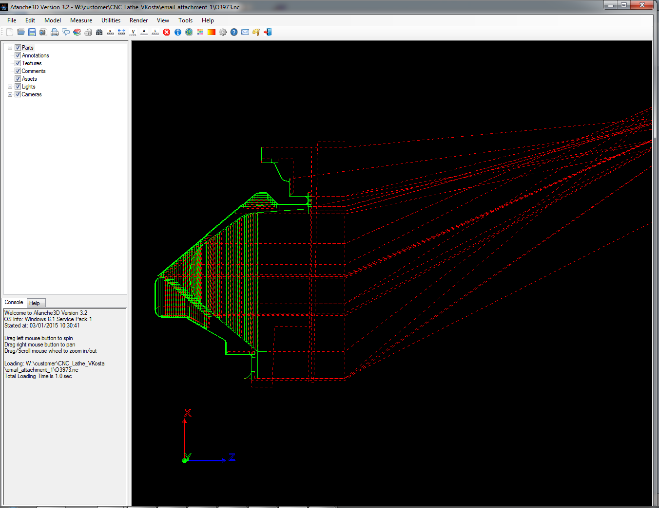 Use Afanche3D to visualize 2D CNC Lathe G-Code | Afanche