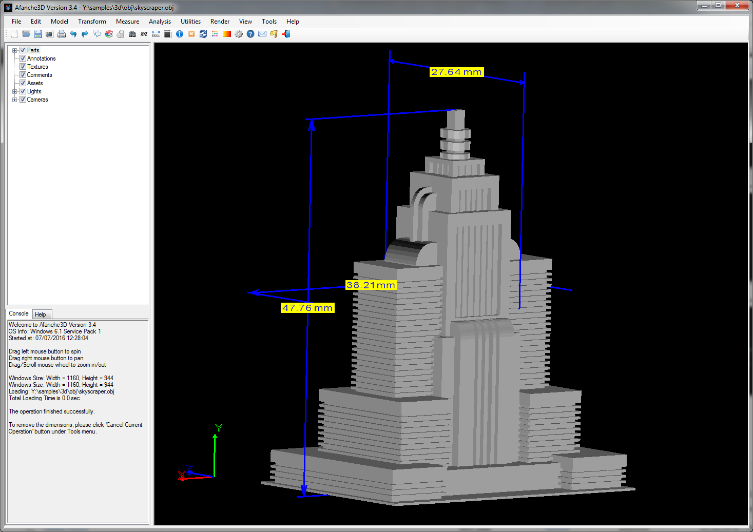 Tutorial measure 3d model with afanche3d afanche technologies inc to use it select a 3d part first then click measure menu select basic dimensions the following picture shows a example of this measurement baditri Image collections